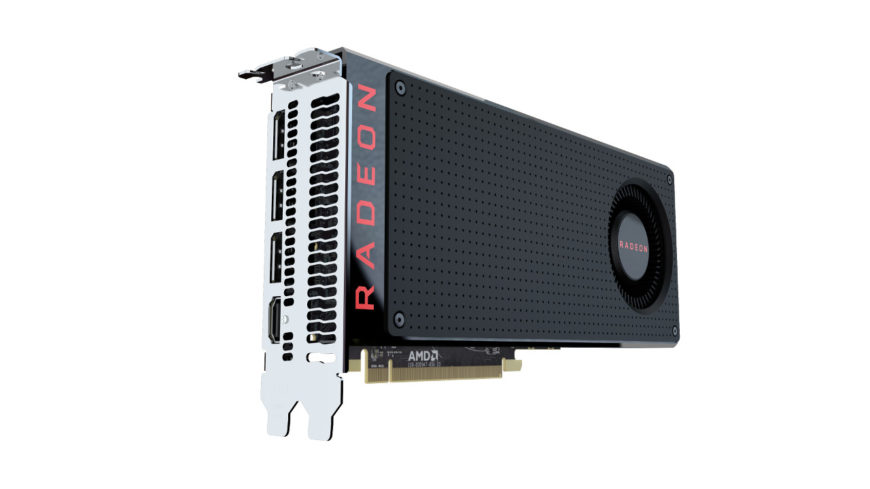 AMD Radeon RX 480 rear