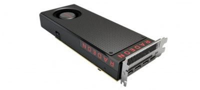 AMD Radeon RX480 top rear render