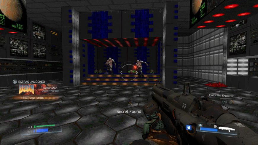 My favourite secrets are the ones which unlock classic Doom maps, which can then be played through in their entirety.