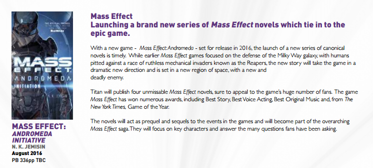 mass effect andromeda novel