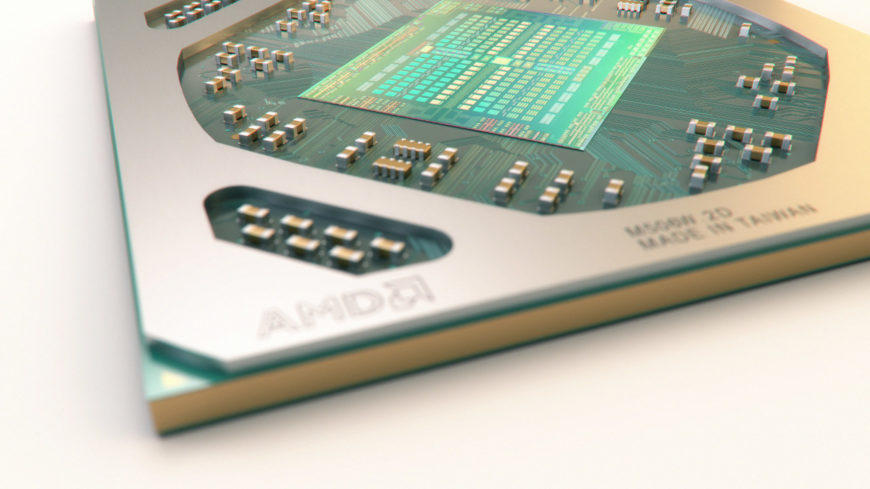 AMD Polaris chip render header