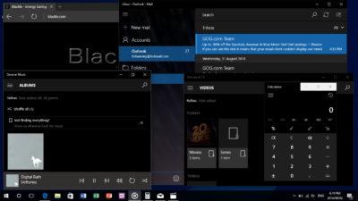 Windows 10 1607 Black theme