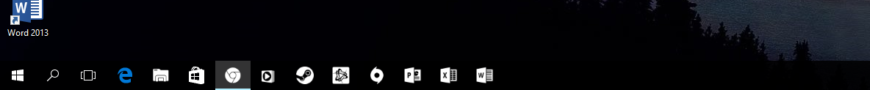 Windows 10 1607 Black theme icon taskbar