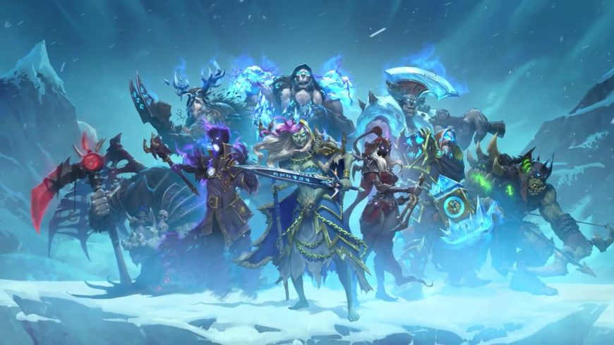 Knights Of The Frozen Throne Wallpaper: Hearthstone And Chill In The Game's Knights Of The Frozen