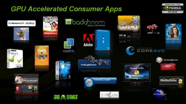 Nvidia boasts a substantial amount of CUDA-compatible applications. And the list keeps growing.