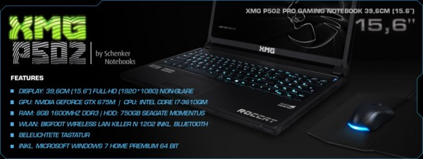 Roccat XMG gaming notebook