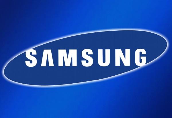 Samsung logo blue background
