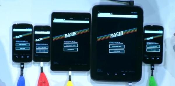 racer home screen