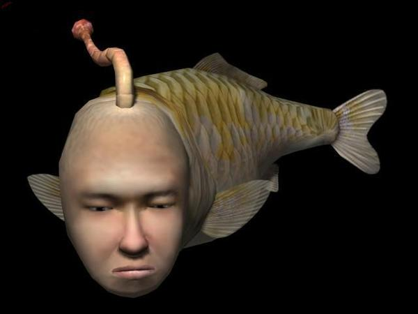 """Call me crazy, but """"Fish with a Human Face"""" seems to fit."""