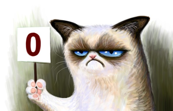 Grumpy cat score zero