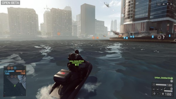 For the beta there are many new water-based activities. Interestingly, you can also pull your handgun out while treading water now. So you're not such a sitting duck.