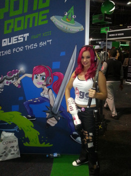 Someone cosplayed as Roxy!