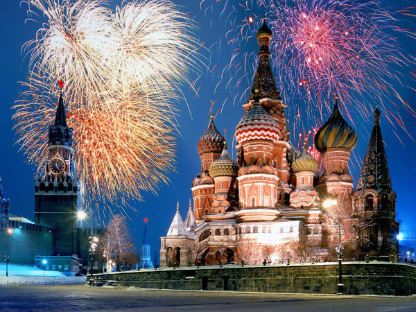 See how nobody's watching the fireworks? That's because they're all inside, swearing at me in Russian.