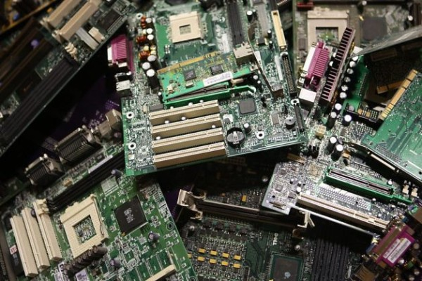 pile of motherboards