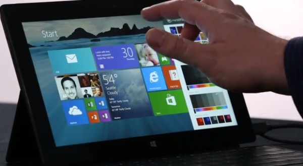 Microsoft Surface 2 running Windows 8.1