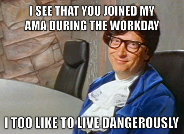 Bill Gates Reddit AMA meme