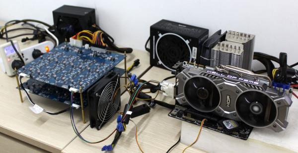 Biostar Bitcoin mining rig