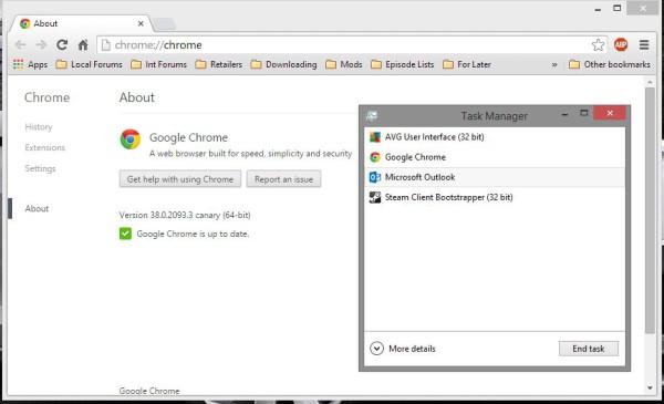 Chrome 64-bit header