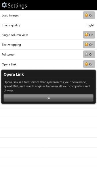 Opera Mini on Windows Phone (2)