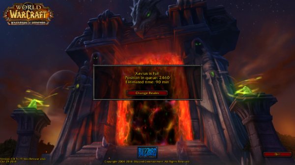 Free game time for botched Warlords of Draenor launch > NAG