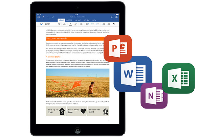 office on tablets