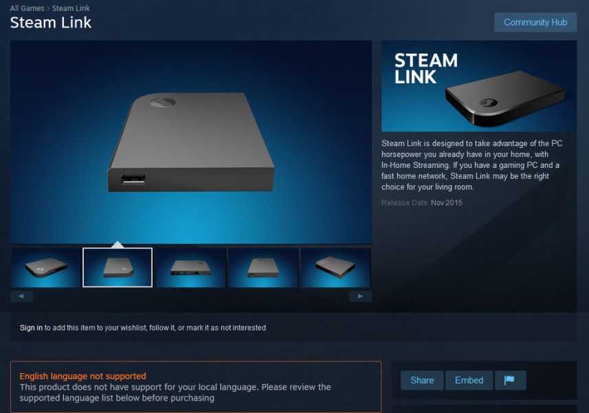 The Steam Link (Source: Gamespot)