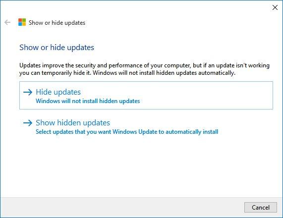 windows-10-hide-or-show-updates