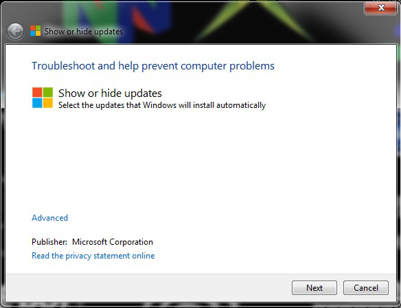 windows-7-show-or-hide-updates