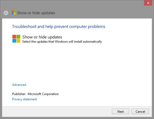 windows-8-show-or-hide-updates