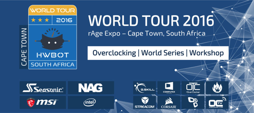 hwbot rage cape town 2016 banner