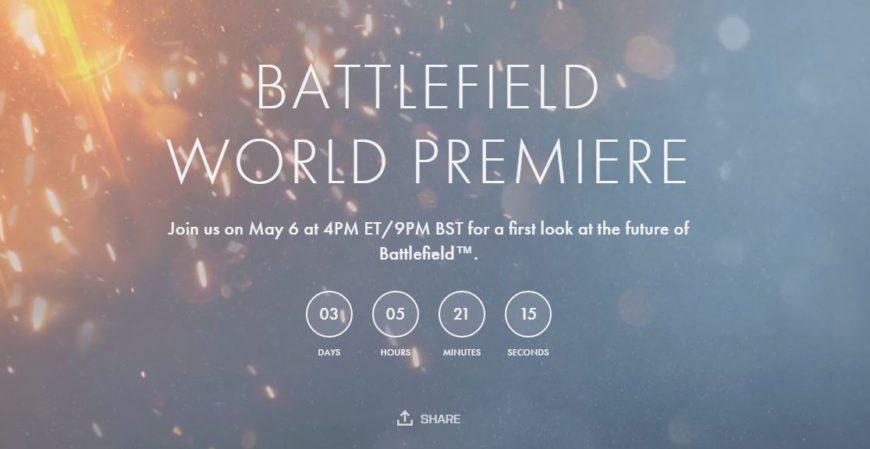 battlefield 5 teaser premiere
