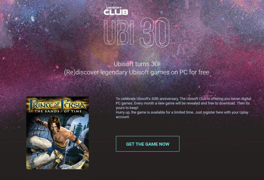 ubisoft UB30 celebration
