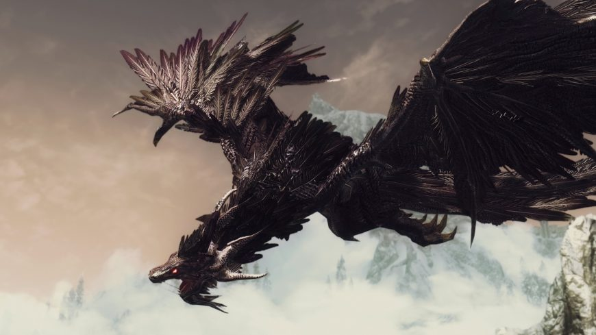 skyrim-se-modded-diverse-dragons-collection