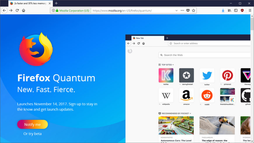 Firefox Quantum wants to be your next browser > NAG
