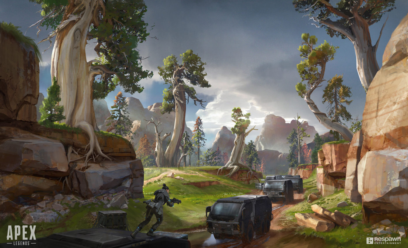 This extraordinary collection of Apex Legends concept art ...