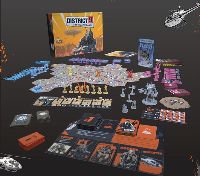 There's a District 9 board game on Kickstarter and it looks pretty rad