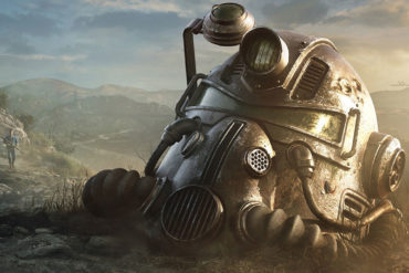 Bethesda's Fallout power armour helmet abandoned to the wastelands