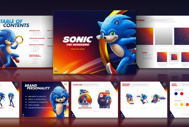 Leaked images from Sonic the Hedgehog film branding guide