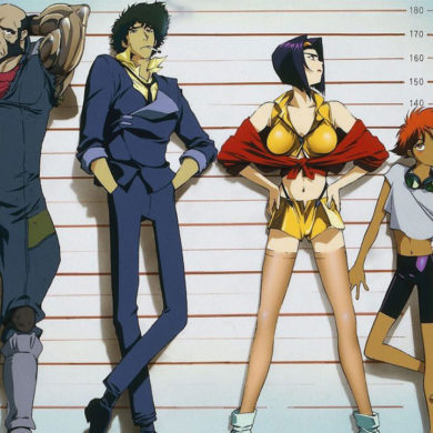 Main characters of the Cowboy Bebop anime series