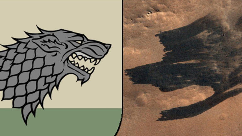 Latest images from NASA's MRO resemble the House Stark sigil from Game of Thrones