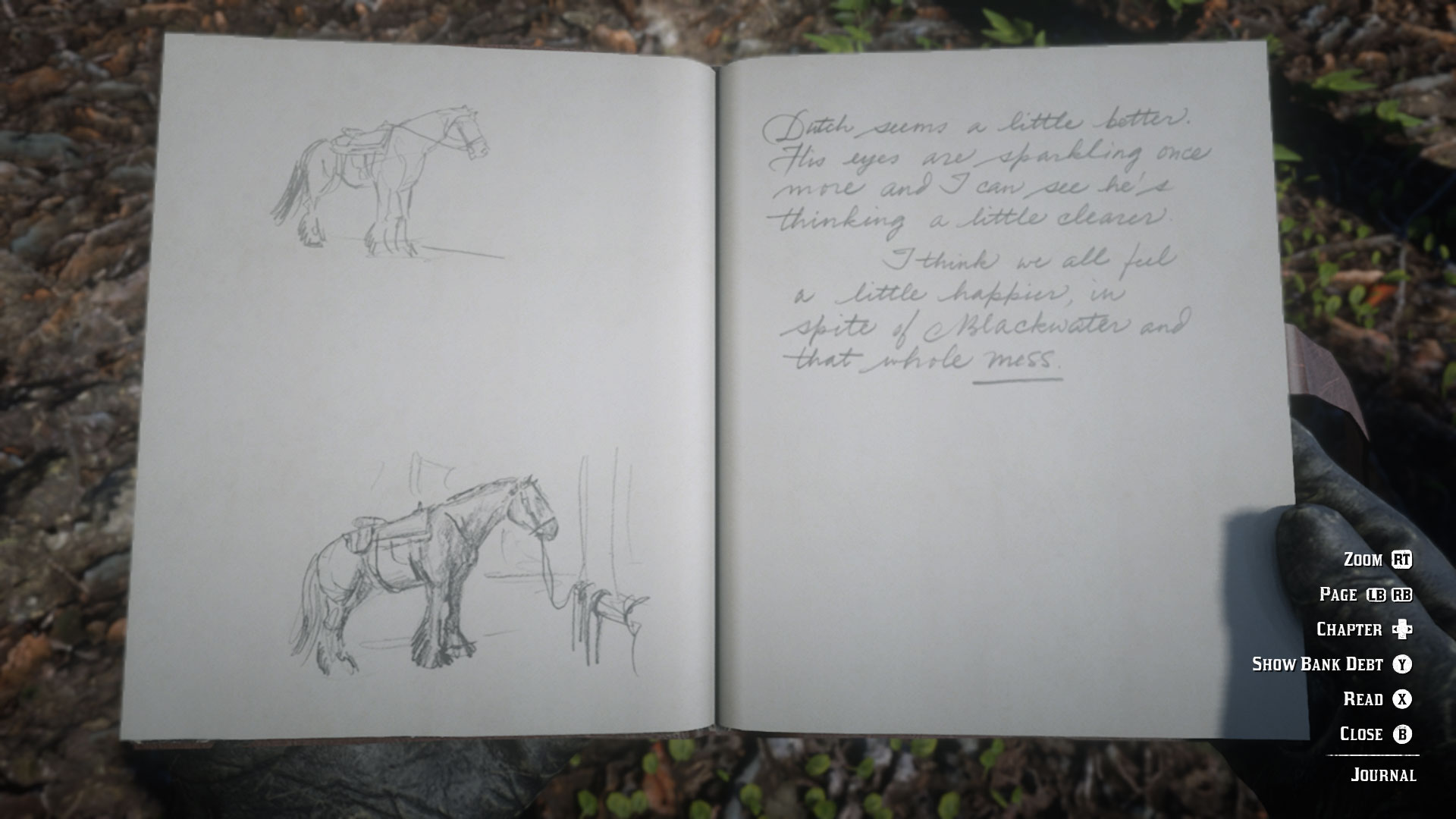Red Dead Redemption 2 journal - horse