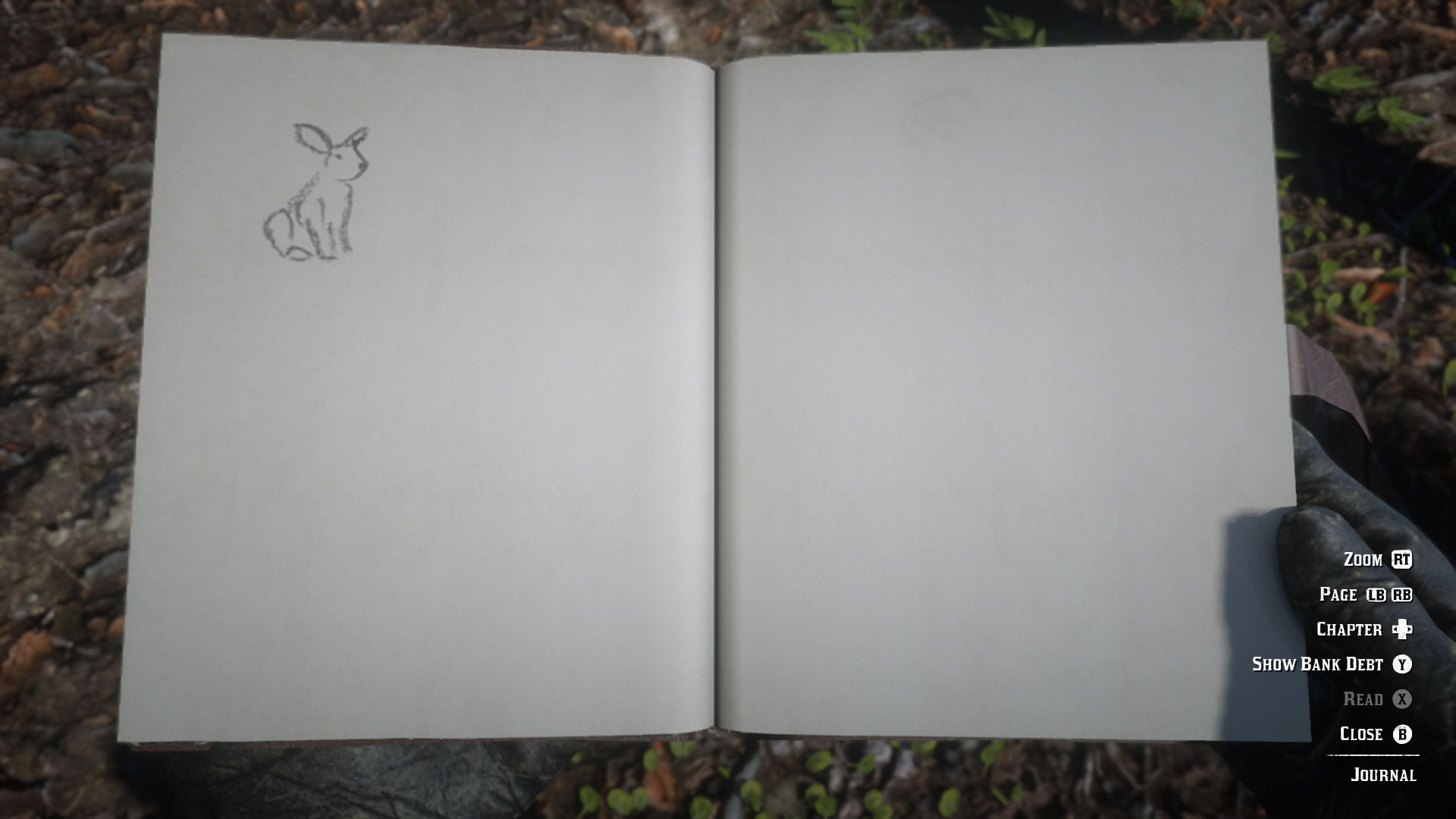 Red Dead Redemption 2 journal - bunny