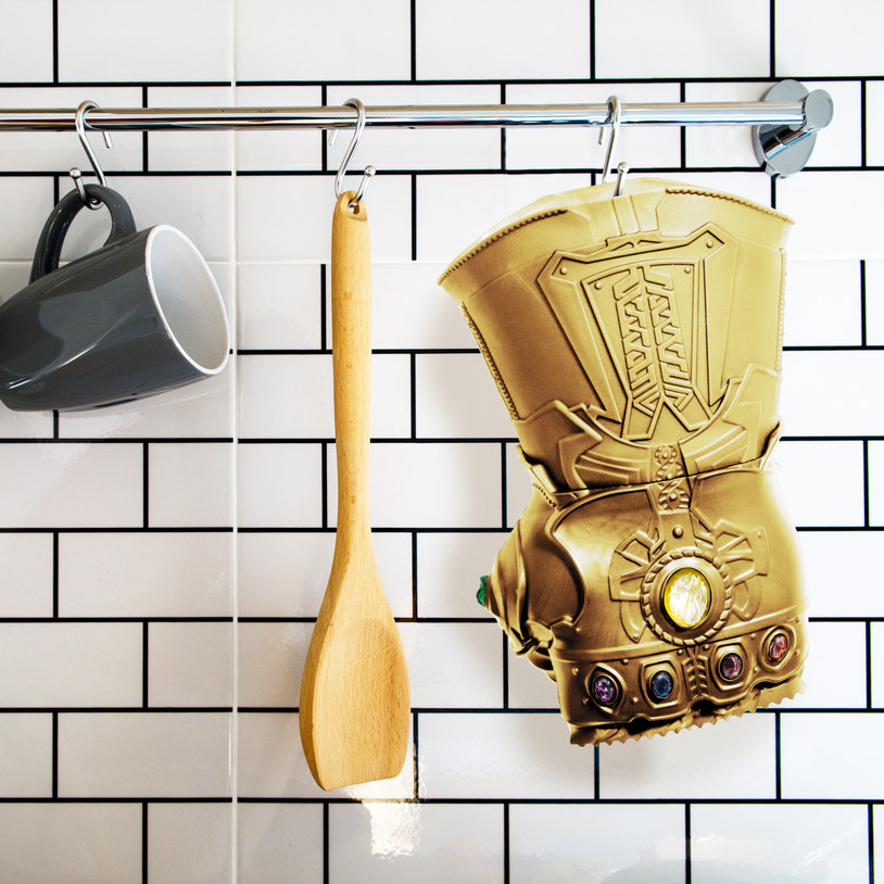 Meat tenderiser in the shape of the Infinity Gauntlet from Avengers: Infinity War and Endgame.