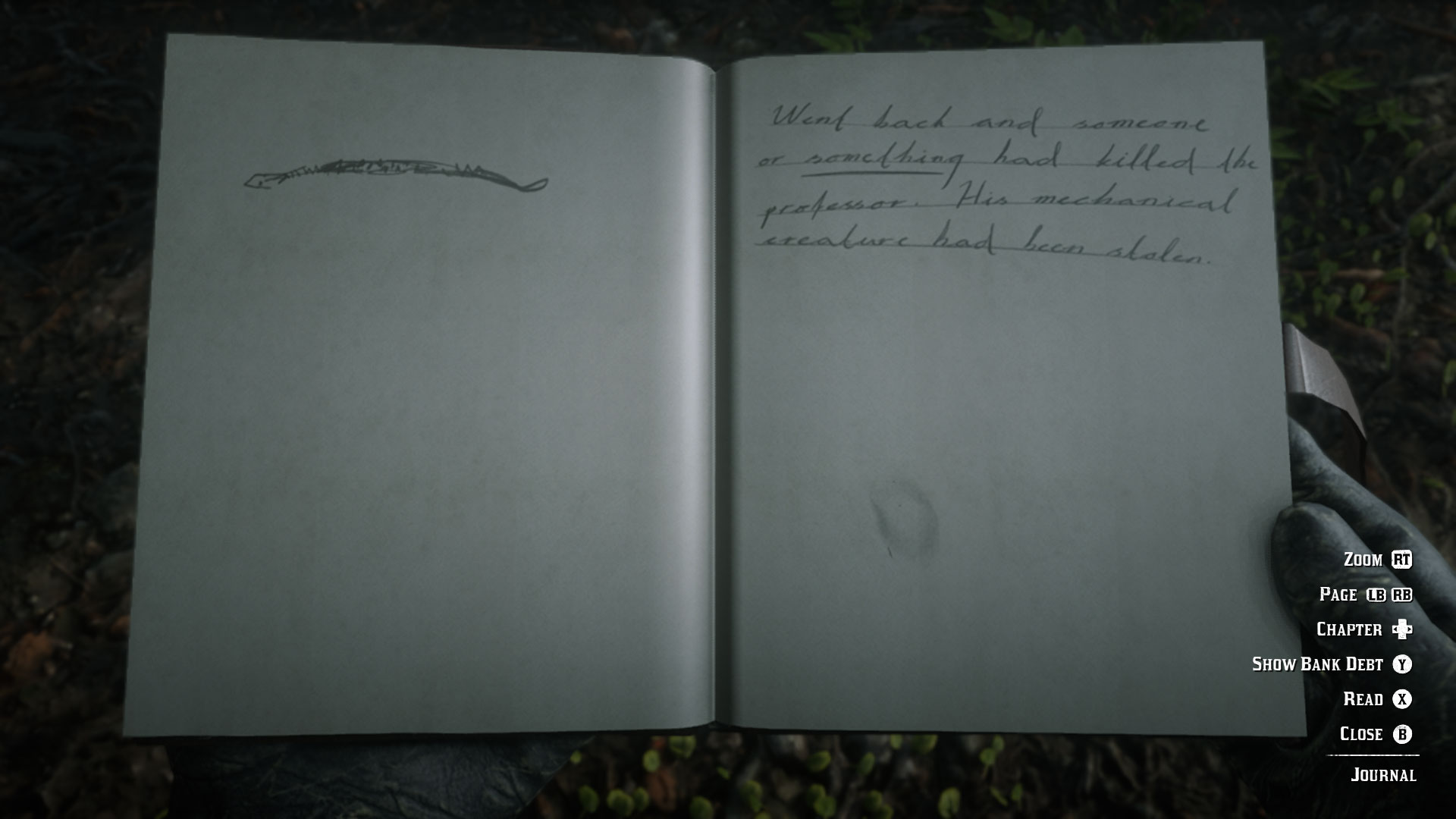 Red Dead Redemption 2 journal - snake