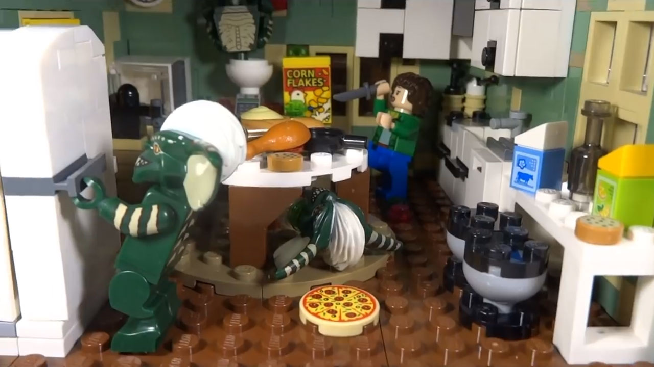 Someone created a haunted house homage to horror classics in LEGO