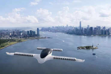 The Lilium Jet is an electric flying taxi in development