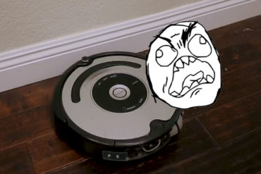 Someone modified a Roomba to scream when it hits things