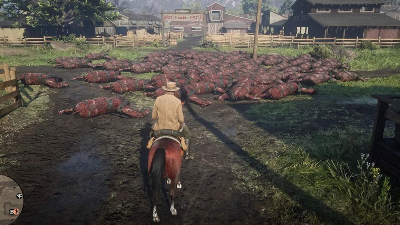 Piles of dead horses showed up in Red Dead Online, but it was just a bug