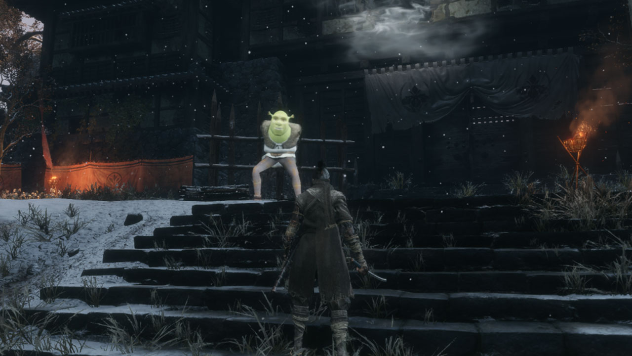 Shrek replaces Chained Ogre in mod for Sekiro: Shadows Die Twice
