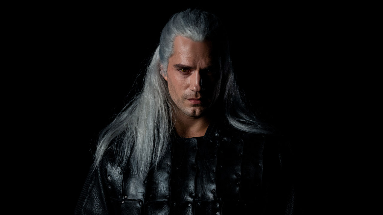 Geralt is played by Henry Cavill in the Witcher TV series